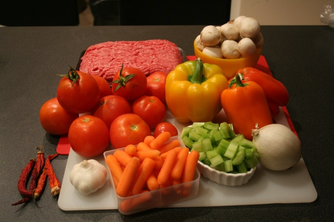 Chilli Con Carne ingredients